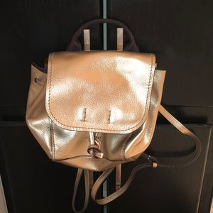 Mini Gold Coach Backpack